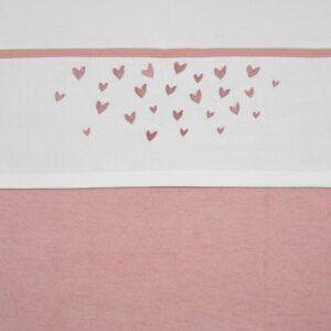 laken hearts pink