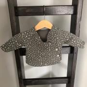 shirt 44 grijs met spetters