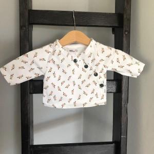 shirt 44 wit met roosjes